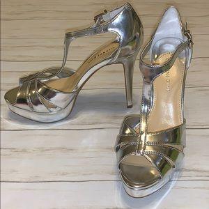 New! Gianni Bini Silver Heels Size 8M